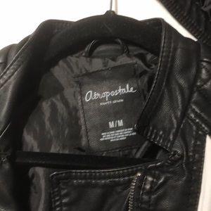 Aeropostale Jackets & Coats - White cloth and black leather jacket size medium.